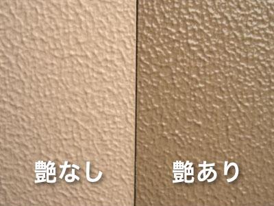 ラジカル塗料の艶ありと艶なし