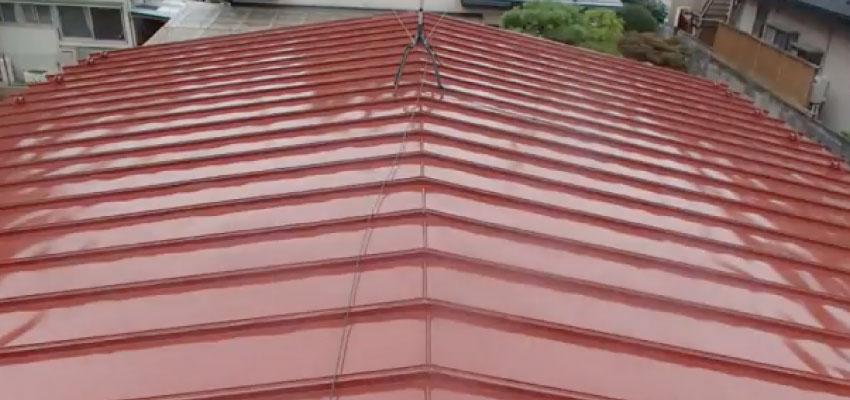 トタン屋根塗装の上塗り