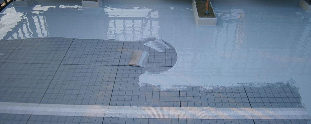 ウレタン防水の通気緩衝工法