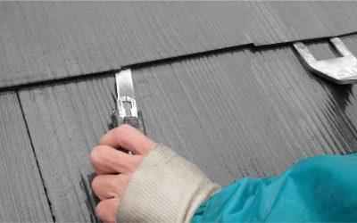 コロニアル屋根塗装の縁切り